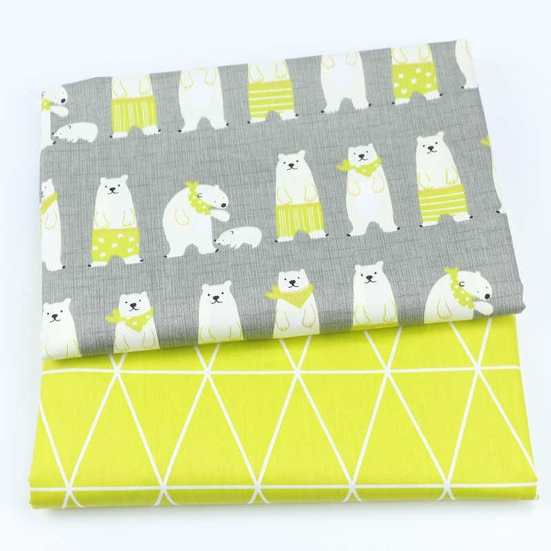 Printed Bear 100% Cotton baby quilting fabric for DIY sewing patchwork cloth sheet fabric