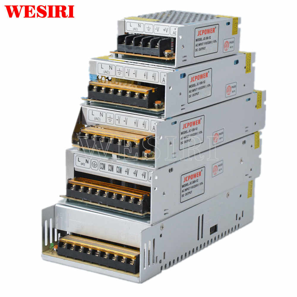 24 V 1A/2A/3A/5A/10A/15A/20A Interruptor LED Power Supply Transformer para 24 V Tira Luzes LED