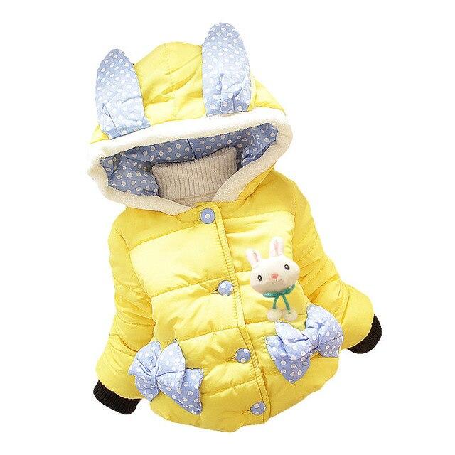 New Fashion Baby Winter Clothing Girls Autumn Winter Flower Coats Girl Jacket Children Outerwear Coat Baby Jacket Kids Clothes
