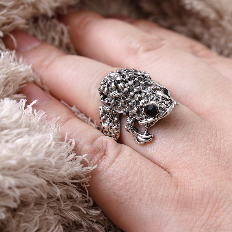 New 2017 Slavic Ring Animal toad CZ stones wedding Awe  Viking Ring Scandinavian Norse Jewelry Free shipping Детская кроватка
