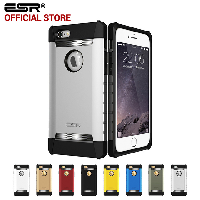 release date: 028ab 5589a US $8.76 |Case for iphone 6s 6 Plus, ESR Rugged Cover Case Tri Layer Shock  Absorbing Case Armor Strong Protective case for iphone 6P 6s-in Fitted ...