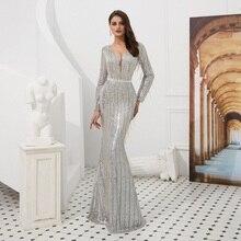 YOUXI Arabic Dubai Evening Dresses 2019 Long Sleeve Mermaid