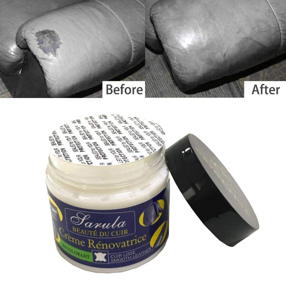 1pcs Multifunctional Leather Refurbishing Cleaner Repair Cream For Car Seat Sofa Leather Renew Cleaning Kit Decontamination Tool