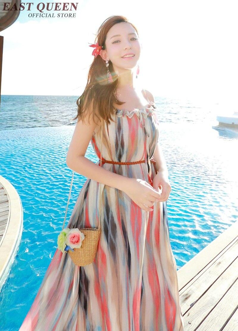 1 Robes Pour Q Tunique Longues Les Chemise Mer Boho Femme Femmes Couverture Chic Manches Sans Longue Aa2077 D'été Style Robe Plage RwCEEq