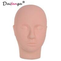 Face Massage Training Mannequin Flat Head Practice Make Up Model Eyelash Extensions On Sale