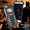 For Xiaomi Max Case Luxury Metal Aluminum Cover Movie Heroes The Dark Knight Batman Element Bumper