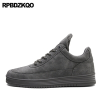 Lace Up Spring Men Shoes Casual Fashion Trainers Suede Solid Walking Skate Sneakers Platform Comfort Hot
