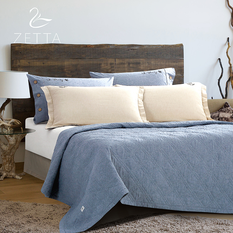 [ZETTA] Cotton Quilted Bedspread Continental Bed Cover Cotton/Summer Summer Suitable for Adults 0002