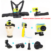 Accessories for Xiao yi Waterproof Housing Case+Bobber+ Wrist Strap+Chest Belt Head Strap+Adapter For Xiaomi Accessories