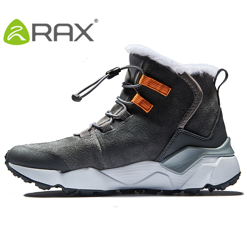 RAX 2017 Autumn And Winter Outdoor Snow Boots Men Warm Cold Boots Women Wear Leather Shoes Snow Shoes Snow Shoes