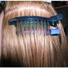 Легко/скорость сепаратор зажимы синий цвет 1 шт./лот секционные зажимы для наращивания волос