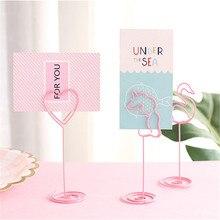 Милые настольные зажимы для заметок, свадебные сувениры, держатель для карт, стол, фото, памятка, номер, имя, зажимы для сообщений, канцелярские подарки