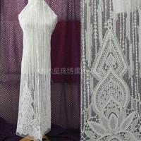 Partida Sequin Bordado Novia de La Boda Vestido de Tela de Encaje DIY Hechos A Mano vestido de Novia de Tela de Encaje