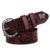 2016 A La Venta! ahueca hacia Fuera el Remache Del Patrón de Mariposa de Cuero Cinturones de Moda de Cuero Genuino de Las Mujeres Cinturones Envío Gratis SY142