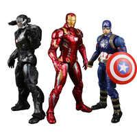 The Avengers super hero Captain America Civil Clint Iron Man Tony Stark Cartoon Toy PVC Action Figure Model Gift