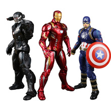 The Avengers super hero Captain America Civil Clint Iron Man Tony Stark Cartoon Toy PVC Action Figure Model Gift 6 5cm avengers civil war captain america super hero ant man wasp pvc action figure collectible model toys doll gift for kids
