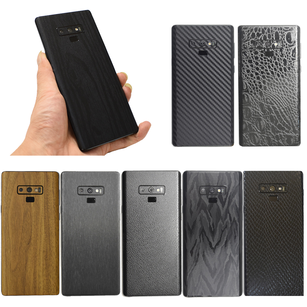 3D Carbon Fiber /Leather/ Wood Skins Phone Back Cover Sticker For SAMSUNG Galaxy S10 Plus S10e Note 9 8 S9+ S8 Plus S7 Edge