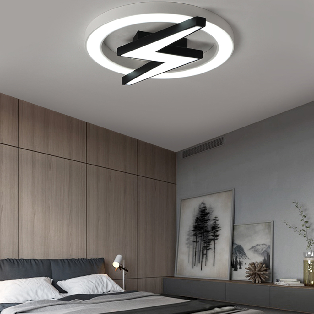 LED Modern Geometric Iron Acryl Black White LED Lamp.LED Light.Ceiling Lights.LED Ceiling Light.Ceiling Lamp For Foyer Bedroom LED Modern Geometric Iron Acryl Black White LED Lamp.LED Light.Ceiling Lights.LED Ceiling Light.Ceiling Lamp For Foyer Bedroom