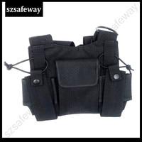 עבור baofeng ניו שני הדרך רדיו חזה כיס חבילת Backpack שפופרת רדיו אביזר מחזיק תיק נרתיק עבור מוטורולה עבור kenwod עבור Baofeng (4)