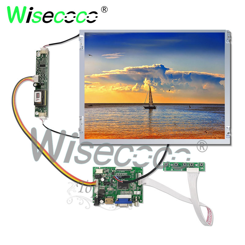 for pc notebook industrial 12.1 inch anti glare <font><b>lcd</b></font> screen 800*600 with HDMI VGA <font><b>50</b></font> <font><b>pin</b></font> TTL output driver board image