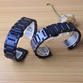 Новый черный синий металлический роскошный ремешок из нержавеющей стали для samsung gear S3 Frontier ремешок для samsung gear S4 сменные полосы