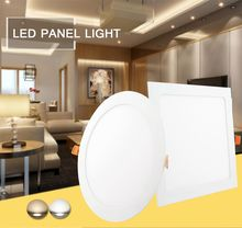 Ultra Thin Led Panel Downlight 2 PCS 85-265V 110V 220V 3W 6W 9W 12W 15W 18W Spot LED warm white Round / Square Ceiling Recessed стоимость