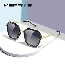 MERRYS дизайнерские женские роскошные брендовые трендовые градиентные солнцезащитные очки , женские модные поляризованные солнцезащитные оч...