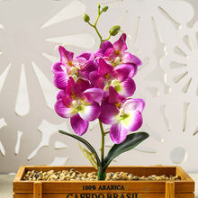1 pc real touch mini small moth orchid artificial flower head for party decoration home decoration potted fake flower plants(China)