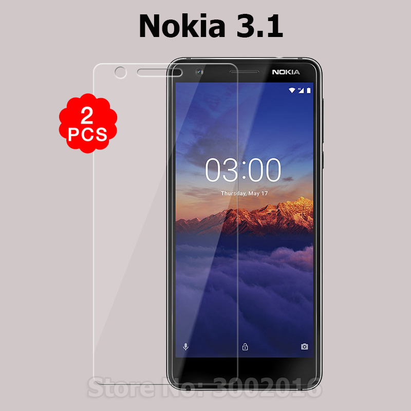 2PCS For Nokia3.1 Tempered Glass 2.5D Premium Screen Protector Film For Nokia 3.1 3 (2018) TA-1049 TA-1057 TA-1063 TA-1070 5.2
