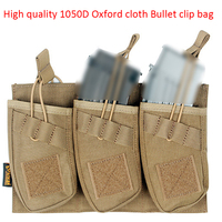 Military Tactics Molle 1050D Oxford Cloth High Quality Triple Stacker M4 Magazine Pouch Waterproof Triple Pack Bullet clip bag