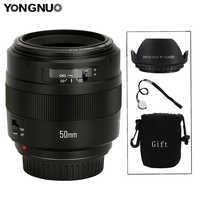 YONGNUO YN50mm lente YN50mm F1.4 objetivo fijo estándar gran apertura lente de enfoque automático para Canon EOS 70D 5D2 5D3 600D DSLR Cámara
