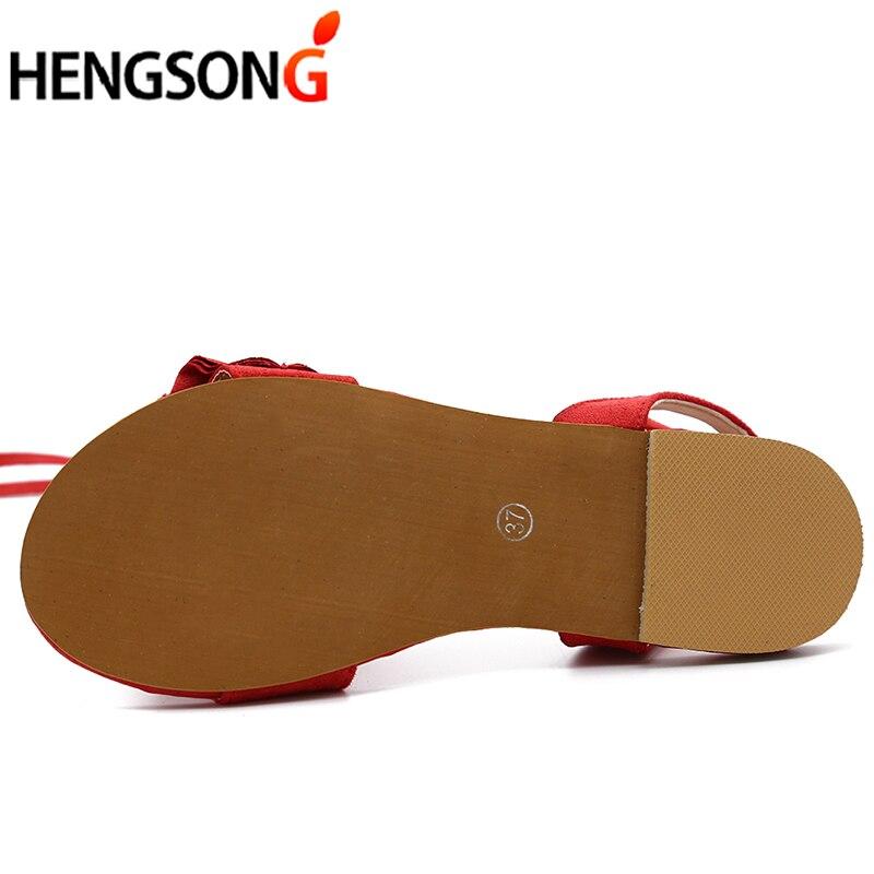 HTB1S1hZiqAoBKNjSZSyq6yHAVXaa Plus Size Women's Sandal Ruffles Shoes Woman Cross Bandage Sandals Summer Shoes Flats Lace-up Ankle Strap Sandalias Mujer 2018