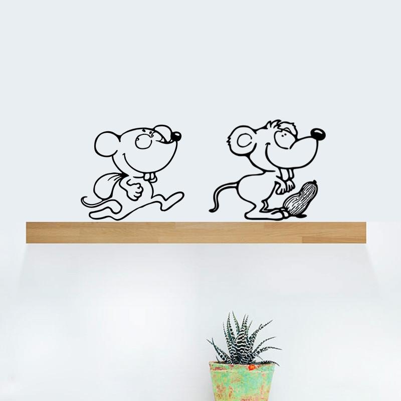 FAI DA TE Divertente Nero Sveglio del Cane Del Gatto Ratto Del Mouse Animls Interruttore Decal Wall Stickers Per La Casa Decalcomanie Camera Da Letto Camera Dei Bambini Salone di Luce decor