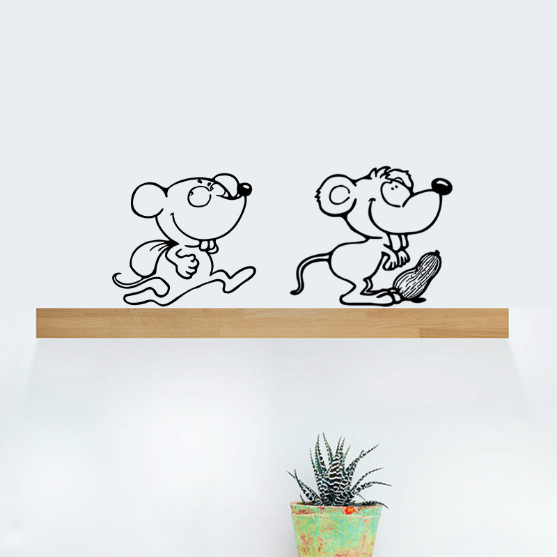 Cute Black Wall Decor : Diy funny cute black cat switch decal wallpaper wall