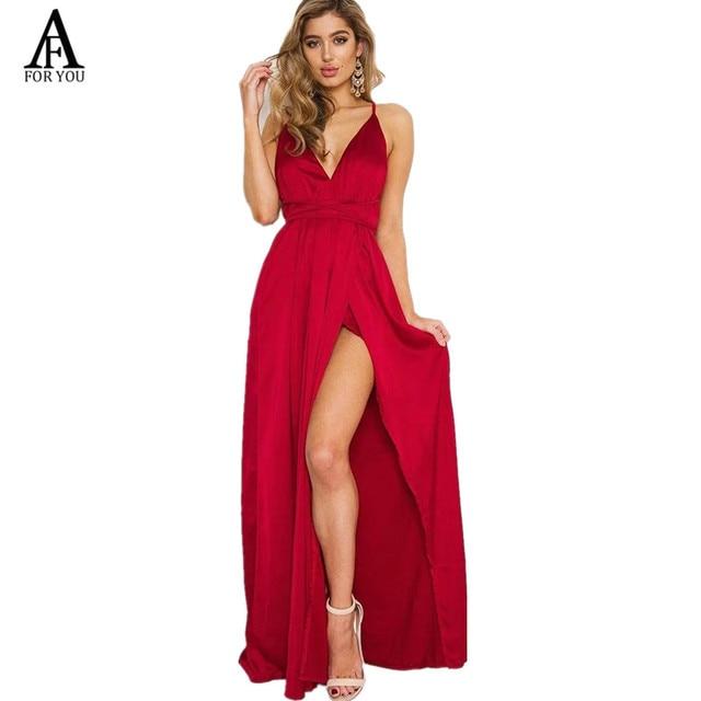 Slip satin backless sexy long dress strap dress Women pajamas summer dress  evening Party elegant black maxi dresses vestidos 355b1832cfe6