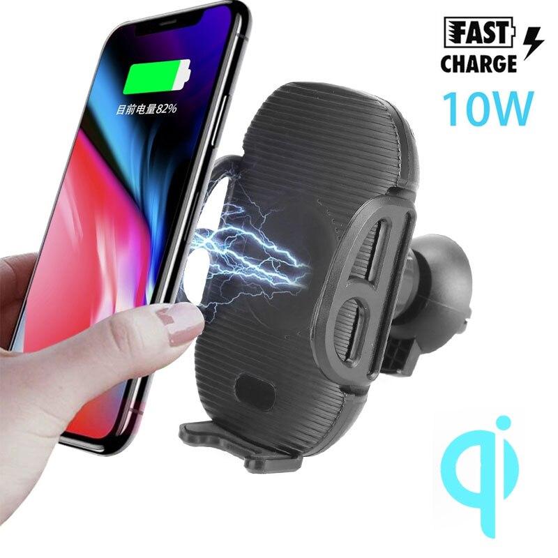 QI Беспроводное зарядное устройство инфракрасный индукционный беспроводной телефон зарядное устройство Быстрая зарядка держатель умный мобильный телефон кронштейн