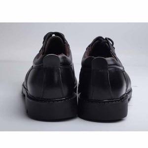 Image 5 - メンズ靴大サイズカジュアル英国の本革男性靴役員牛leatrher靴男性冬暖かい毛皮豪華な黒