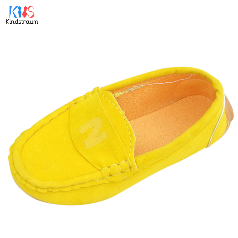 Kids Suede Loafers 2018 New Spring Children Casual Letter Print Cow Muscle Bottom School Single Shoes for Boys & Girls,EJ085