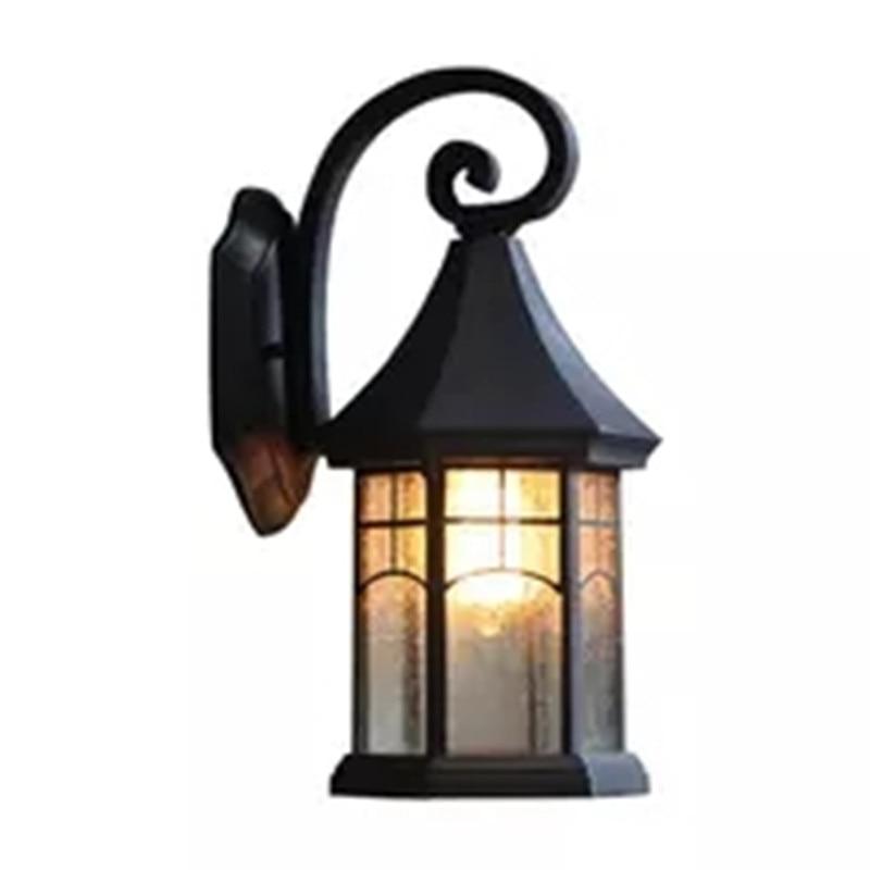 ФОТО Retro Continental waterproof outdoor wall lamp outdoor lighting, garden lights creative American balcony stairs facades Wall