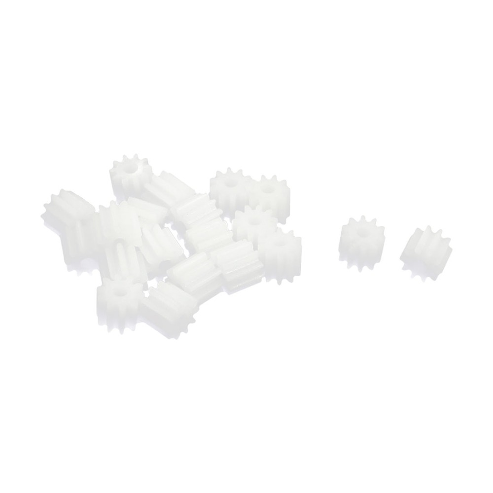 UXCELL 20Pcs/lot 6mm X 2mm 10 Teeth Plastic Gear Wheel For Toy Car Motor Gearbox Shaft Power Transmission Parts