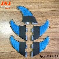 Comparar Aletas de tabla de surf 5 uds FCS II G7 fabricadas con fibra de carbono