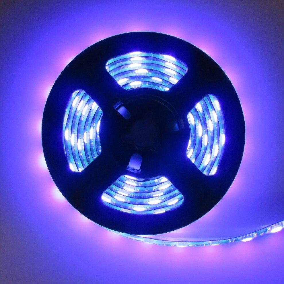 UV Black Lights DC12V SMD5050 395-405nm Flexible Strip IP65 For Outdoor Indoor,Boat,Night Fishing,Sterilization,3D Print