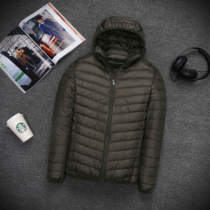 Plus size ultra thin lightweight white duck   down   jackets men   down     coats   for autumn