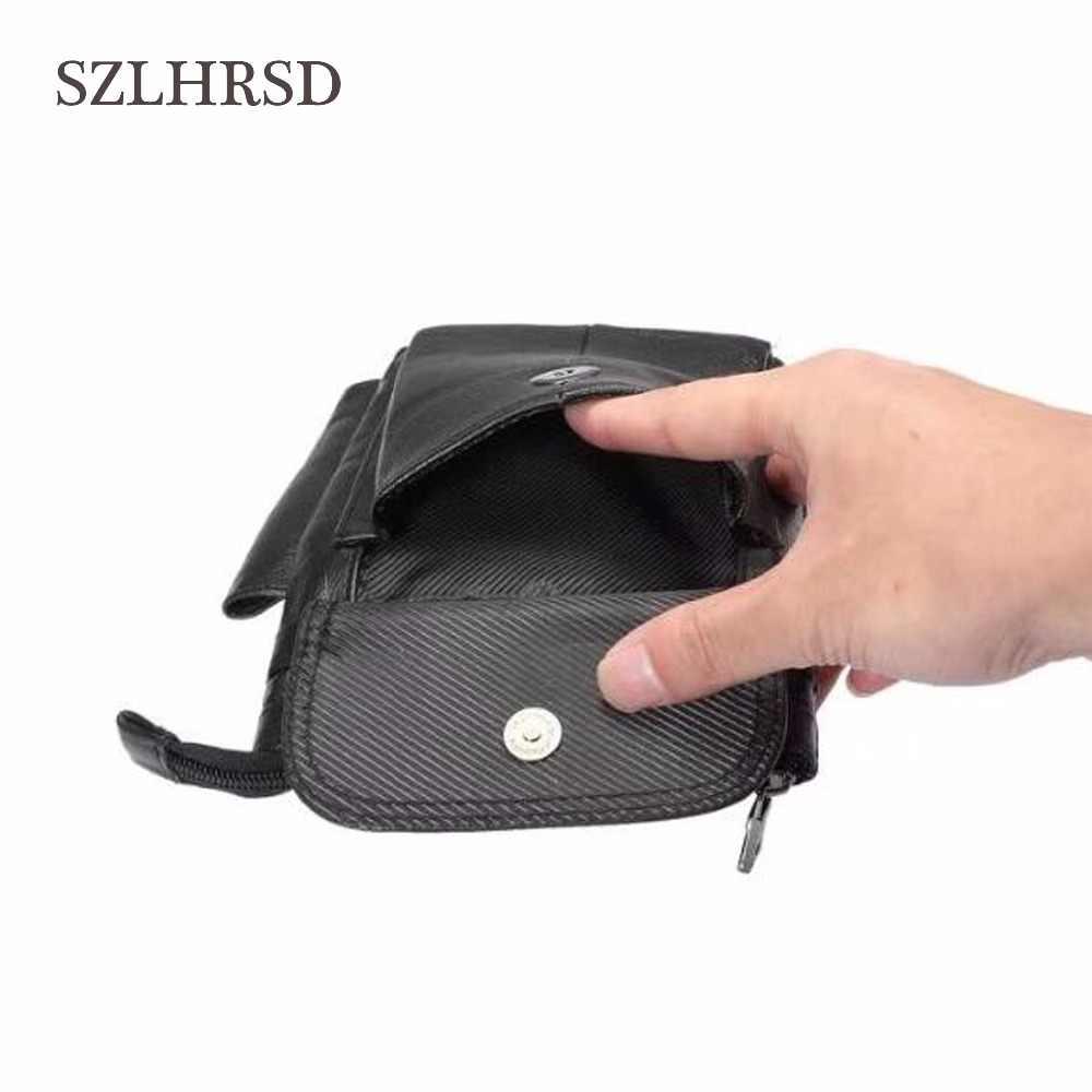 SZLHRSD Mobiele Telefoon Case Lederen rits pouch Riemclip Taille Purse Cover voor Samsung Galaxy S9Plus Blackview P10000 Pro