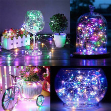 2/3/5 M waterproof Led Strings Copper Wire holiday night lights Christmas garland fariy strip lamp Wedding Party home Decoration