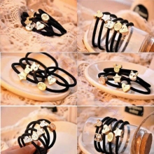 10Pcs Elastic Hair Band Rubber Ponytail Accessories Hot Sale Pattern Random