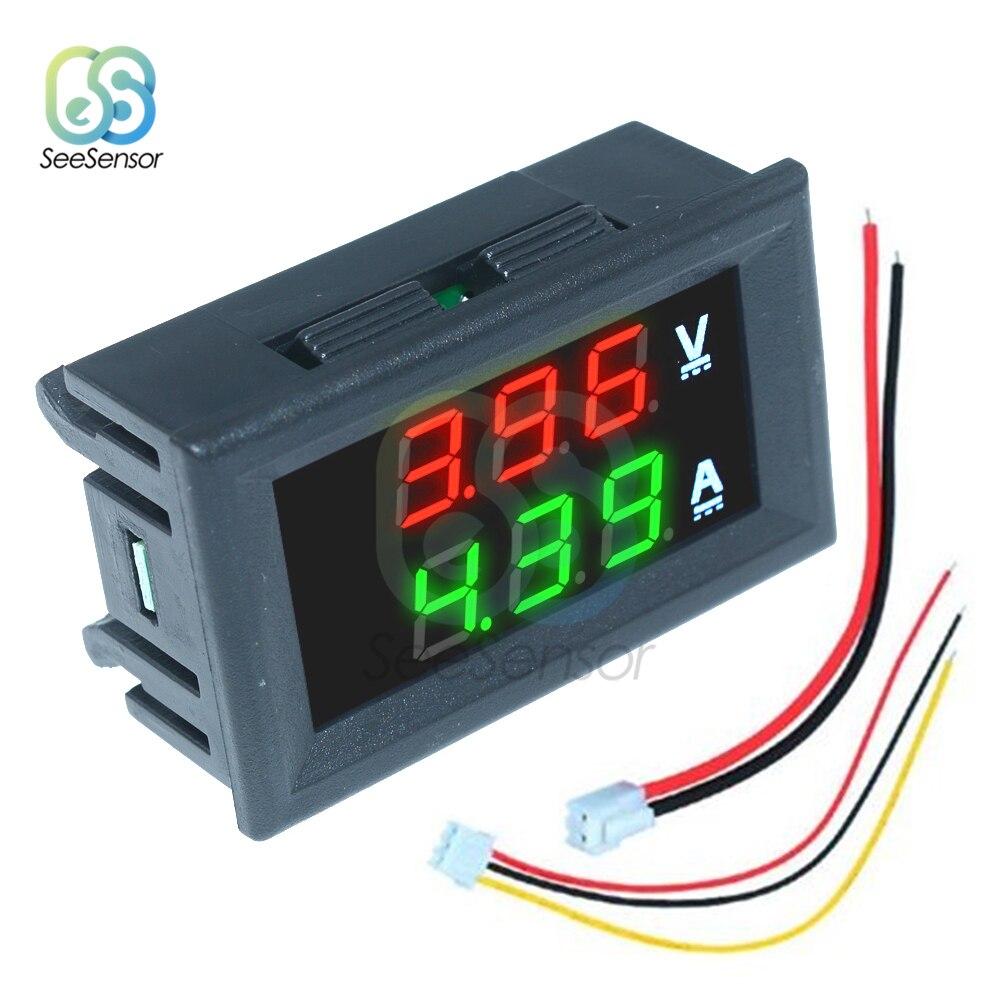 DC 100V 10A Mini Digital Voltmeter Ammeter Dual LED Display Digital Voltage Current Meter Tester Gauge