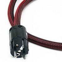 YJHIFI 3X4N Kupfer OFC 5N Kupfernetzkabel vergoldet EU netzstecker kabel hifi netzkabel kabel für DVD AMP