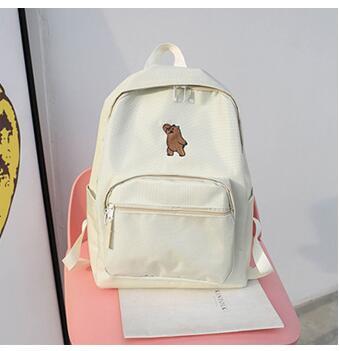 Free Shipping Helan H1-h3 Simple Backpack Backpack Female Hoop Canvas Schoolbag #2