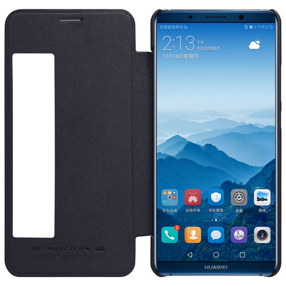 Huawei Mate 10 Pro Case Qin Flip Leather Phone Cover For Huawei Mate 10 Pro Wallet Phone Case Smart Wake Up